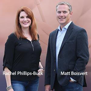 Matt Boisvert, Co-founder and President; and Rachel Phillips-Buck, Vice President for Student Success and Senior Consultant, Pharos Resources