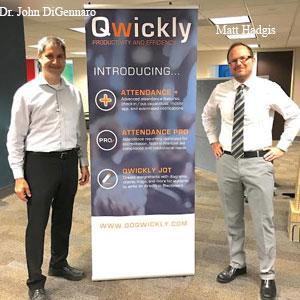 Dr. John DiGennaro, CEO, Matt Hadgis Co-founder, President & CTO, Qwickly, Inc
