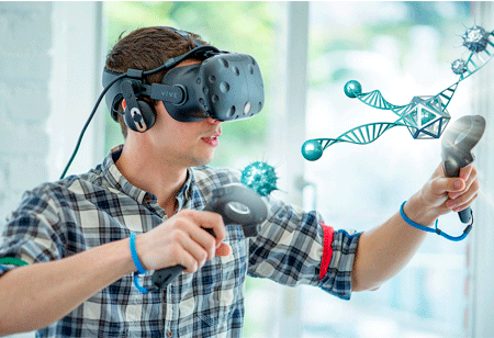 Improving Classroom Interactions with AR and VR